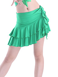 cheap -Latin Dance Skirt Women's Training Viscose Tier Natural