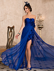 Sheath / Column Strapless Sweetheart Asymmetrical Chiffon Evening Dress with Draping by TS Couture®