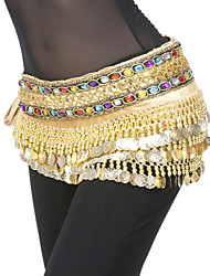 cheap -Belly Dance Belt Women's Polyester Sequin Coin Natural