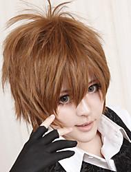 economico -Parrucche Cosplay Tutor Hitman Reborn! Tsunayoshi Sawada Marrone Corto Anime Parrucche Cosplay 30 CM Tessuno resistente a calore Uomo