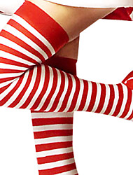cheap -Socks / Long Stockings Women's Christmas New Year Festival / Holiday Halloween Costumes Red and White