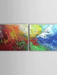 cheap -Oil Painting Hand Painted - Abstract Comtemporary Stretched Canvas