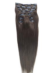 baratos -24 polegadas 9 pcs 100% cabelo indiano sedosa clipe em linha reta na extensão do cabelo 26 cores para escolher