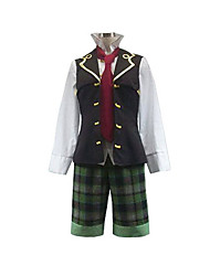 cheap -Inspired by Pandora Hearts Oz Vessalius Anime Cosplay Costumes Cosplay Suits Patchwork Long Sleeves Vest Shirt Tie Shorts For Men's