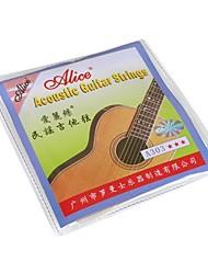 Недорогие -Алиса - (A303-SL) из нержавеющей стали акустической гитары Струны (011-052)