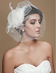 Wedding Veil One-tier Blusher Veils Birdcage Veils Cut Edge Tulle