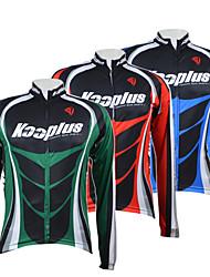 Kooplus Camisa para Ciclismo Homens Manga Longa Moto Camisa/Roupas Para Esporte Blusas Secagem Rápida Zíper Frontal Respirável 100%