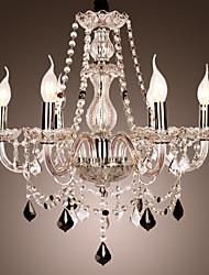 Rústico/Campestre Cristal Lustres Luz Superior Para Sala de Estar Quarto 110-120V 220-240V 110-120V 220-240V Lâmpada Não Incluída