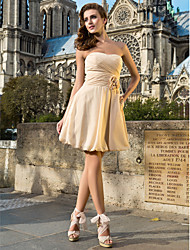 A-Line Princess Strapless Sweetheart Knee Length Chiffon Cocktail Party Dress with Draping by TS Couture®