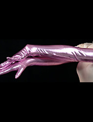 Gloves Ninja Zentai Cosplay Costumes Pink Solid Gloves Spandex Unisex Halloween Christmas