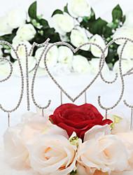 economico -Decorazioni torte Classico Monogramma Cuori Matrimonio Compleanno Addio al nubilato Festa di 18 anni Con Con diamantini OPP