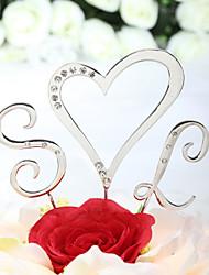 baratos -Decorações de Bolo Tema Clássico Monograma Corações Casamento Chá de Cozinha Festa de 16 Anos Com Pedrarias PPO