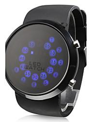 Herre Armbåndsur Digital LED Silikone Bånd Sort