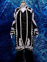 に触発さ Vocaloid Kaito ビデオ ゲーム コスプレ衣装 コスプレスーツ ジャカード 長袖 クラバット コート ベスト シャツ パンツ グローブ
