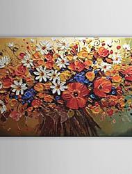 Dipinta a mano Floreale/Botanical Un Pannello Tela Hang-Dipinto ad olio For Decorazioni per la casa