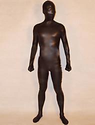 billige -Zentai Drakter Ninja Cosplay-kostymer Ensfarget Skinnende Metallisk Unisex Jul Halloween / Høy Elastisitet