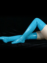 Socks/Stockings Ninja Zentai Cosplay Costumes Blue Solid Stockings PVC Unisex Halloween
