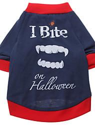 preiswerte -Hund T-shirt Hundekleidung Atmungsaktiv Buchstabe & Nummer Blau Kostüm Für Haustiere