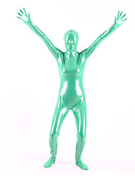 billige -Skinnende Zentai Drakter Huddrag heldekkende drakter Ninja Voksne Cosplay-kostymer Ensfarget PVC Herre Dame Jul Halloween / Høy Elastisitet