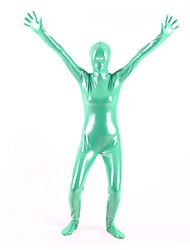 billige -Skinnende Zentai Dragt Ninja Spandex Heldragt Cosplay Kostumer Ensfarvet Trikot / Heldragtskostumer / Zentai PVC Unisex Jul / Halloween / Høj Elasticitet