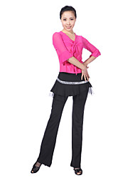 cheap -Latin Dance Outfits Women's Training Viscose Sequins Half Sleeve Natural