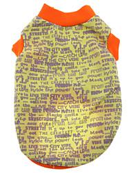 preiswerte -Hund T-shirt Hundekleidung Lässig/Alltäglich Buchstabe & Nummer Schwarz Grau Gelb Rot Blau Kostüm Für Haustiere