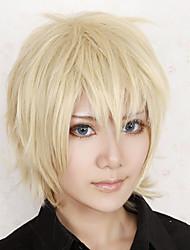 Parrucche Cosplay Oltre il confine Konoe Oro Corto Anime/Videogiochi Parrucche Cosplay 30 CM Tessuno resistente a calore Uomo
