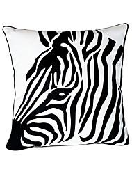 Cabeça Zebra algodão fronha decorativa