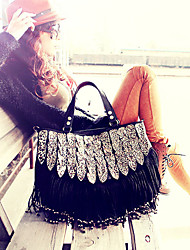 Women Bags All Seasons PU Tote for Event/Party Casual Black