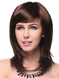 cheap -Synthetic Wig Layered Haircut / With Bangs Synthetic Hair Natural Hairline Red Wig Women's Mid Length Cosplay Wig / Natural Wigs / Party
