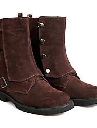 billige -England stil Mænds ægte læder til midten af læggen vinterstøvler med Buckle