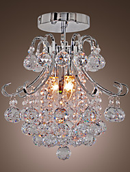 Flush Mount ,  Modern/Contemporary Electroplated Feature for Crystal Mini Style Metal Living Room Dining Room Entry