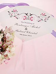 personalizirane biser papir rukom fan - crveni cvijet (set od 12)