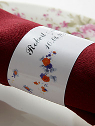 baratos -Guardanapos de casamento - 50pcs anéis de guardanapo Casamento Aniversário Festa de Noivado Chá de Cozinha Festa de 16 Anos Tema Flores
