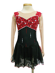 cheap -Figure Skating Dress Women's / Girls' Ice Skating Dress Spandex, Lace Rhinestone / Sequin High Elasticity Performance / Practise Skating