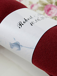 cheap -Personalized Paper Napkin Ring - Rose (Set of 50) Wedding Reception