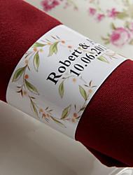 anneau de serviette en papier personnalisé - fleur adorable (lot de 50) réception de mariage