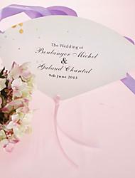 abordables -Perle personnalisé Eventail papier - Romance rose (ensemble de 12)