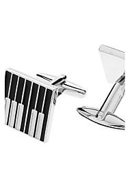 baratos -z&de piano X® padrão chave liga abotoaduras