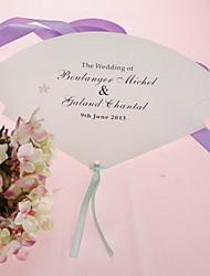 Недорогие -Персонализированные Pearl бумаги Рука вентилятора - Pink печати (набор из 12)