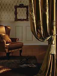 cheap -Curtains Drapes Bedroom Polyester Jacquard