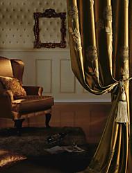 Due pannelli Trattamento finestra Europeo Neoclassicismo Camera da letto Tessuto sintetico Materiale tende tende Decorazioni per la casa
