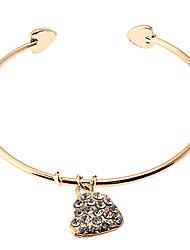 Недорогие -полный горный хрусталь сердце форма кольцевой браслет классический женский стиль