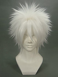 Cosplay Wigs Reborn! Byakuran White Short Anime Cosplay Wigs 32 CM Heat Resistant Fiber Male
