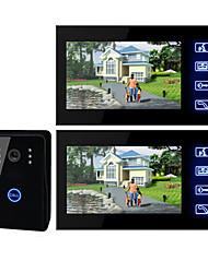 abordables -Videoportero de 7 Pulgadas y Pantalla TFT LCD (1 Cámara, 2 Monitores)