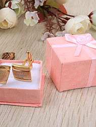 Sposo Testimone dello sposo Acciaio inossidabile Gemelli e fermacravatte Matrimonio Compleanno