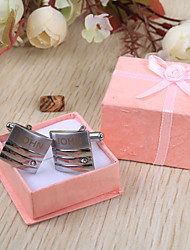 cheap -Stainless Steel Cufflinks & Tie Clips Groom Groomsman Wedding Anniversary Birthday Business
