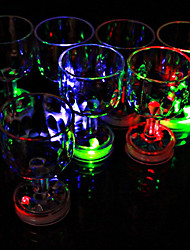 1Pc Color Flashing Small Goblet With Led Flash Light Kitchen Supplies