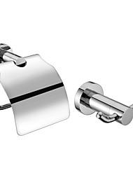 baratos -Chrome Banheiro Finish Conjuntos de acessórios (Inclui Ganchos Robe, porta papel higiênico - Latão)