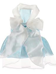 Chien Robe Vêtements pour Chien Mariage Rayure Bleu Rose Costume Pour les animaux domestiques